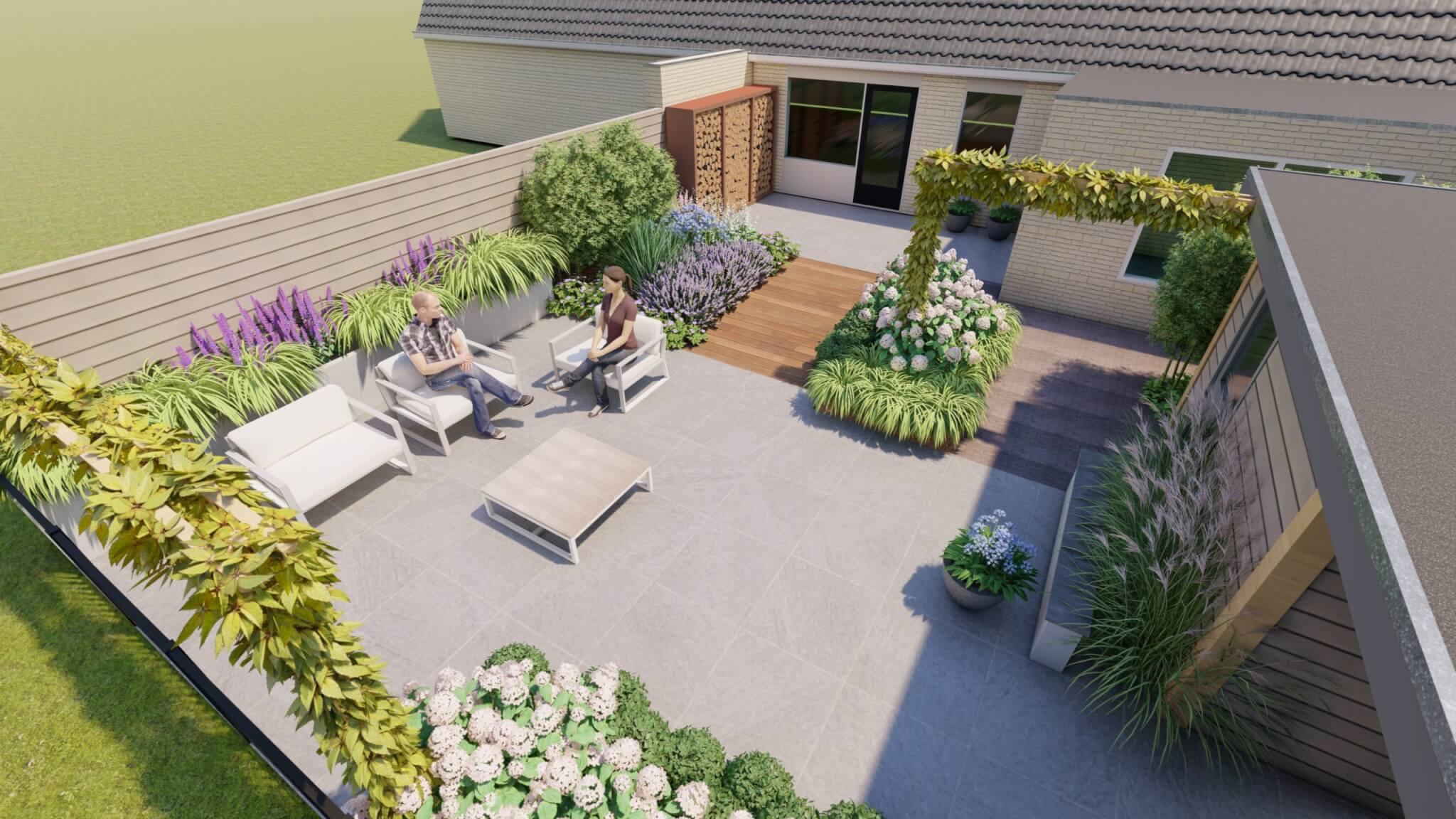 3D Tuinontwerp tuinaanleg luxe tuin