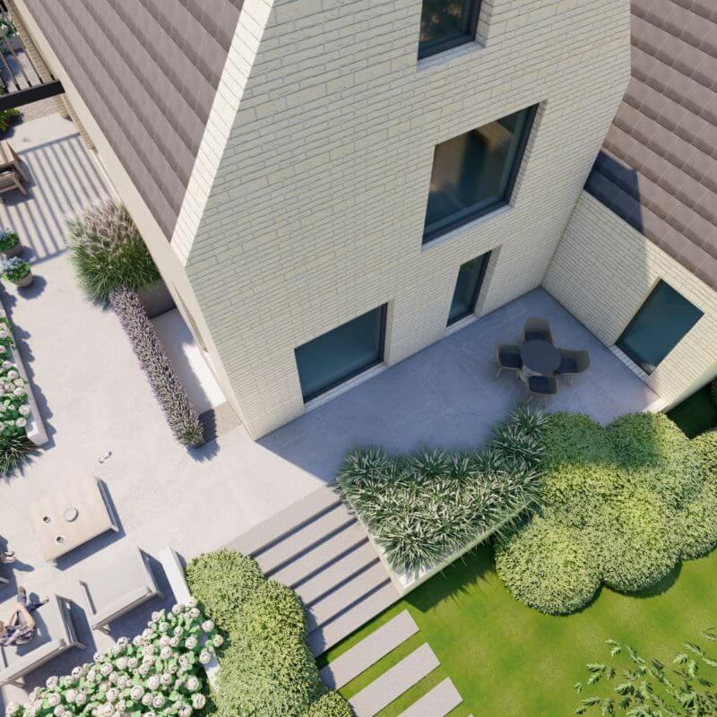 3D Tuin ontwerp aanleg moderne tuin