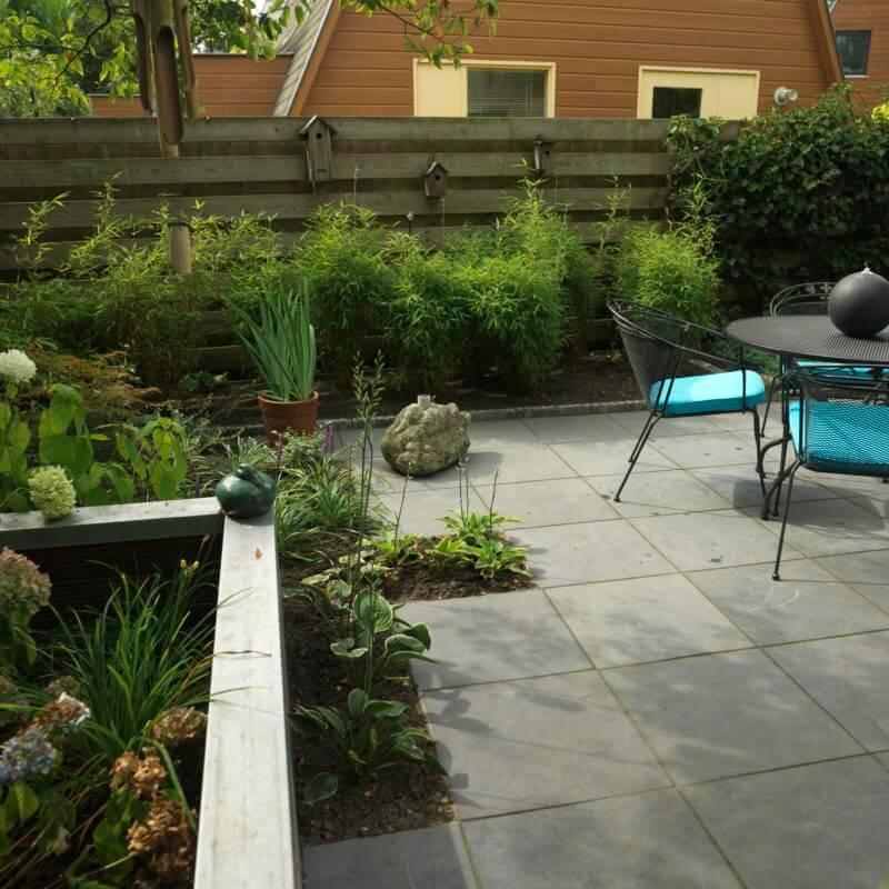 Voorbeeld grote tuin inrichten strak ontwerp