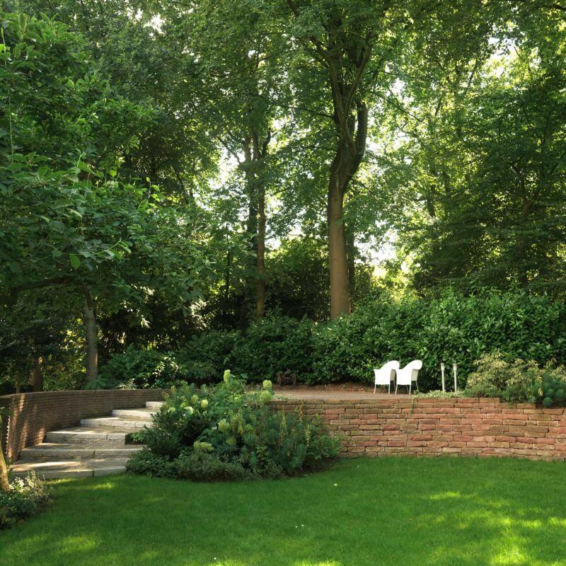 Voorbeeld aanleg luxe tuinen