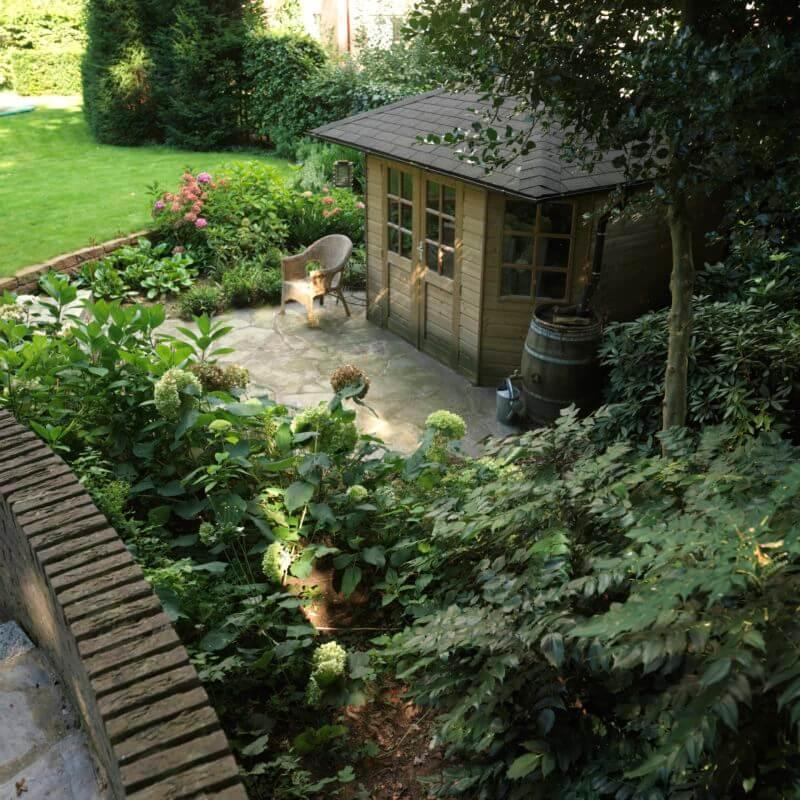 Voorbeeld aanleg van natuurlijke tuin ontwerp