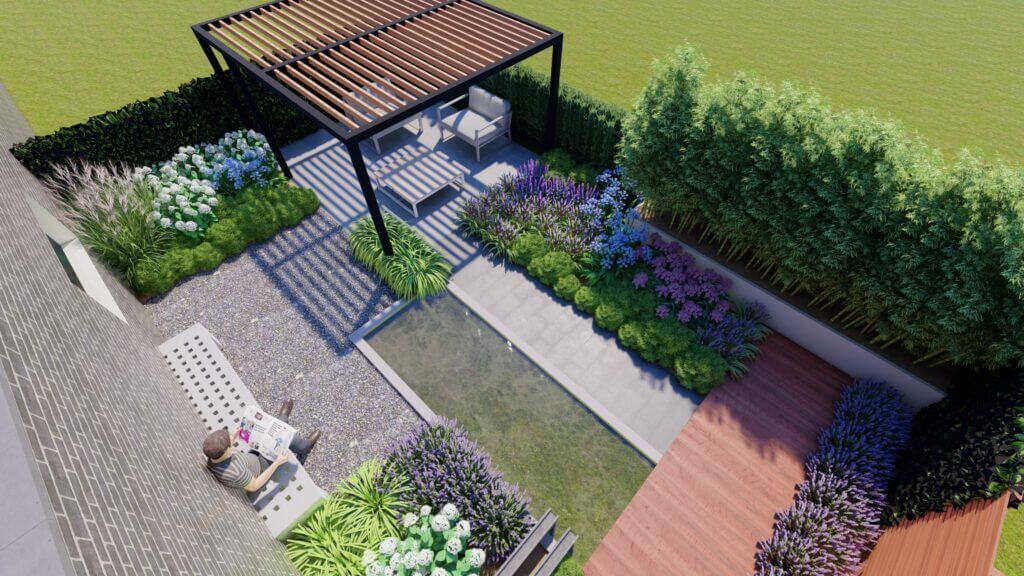 Wonderbaar Moderne tuin met strakke vijver - GreenART RK-62